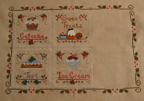 Sweet Treats - four blocks finished!