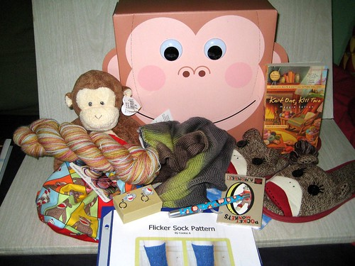 Monkey sock swap package