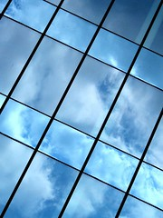 The sky's the limit (Anne*) Tags: blue sky reflection window leuven architecture bravo published belgium belgique belgie geometry bleu reflet ciel abstraction minimalism oblique 2008 optimism fentre nolimit optimisme bostonreview toutestpossible pierrebdat annedhuart