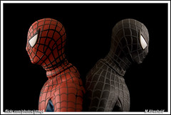 The Two Sides of Spider-Man (Mishari Al-Reshaid Photography) Tags: red photoshop canon dark comics eos japanese cool cs2 spiderman peterparker figure spidey kuwait marvel figures canoneos photoshopcs2 marvelcomics redandblack q8 stanlee canonef24105f4l gtm canoncamera webslinger canoneflens imagestabilizer 24105mm q80 canonllens ef24105 realactionheroes amazingspiderman mishari spidermanmovie friendlyneighbourhoodspiderman blackspiderman canonef24105f4lis aplusphoto medicomtoys kuwaitphoto kuwaitphotos canoneos40d darkspiderman canon40d kvwc excapture kuwaitartphoto gtmq8 kuwaitart spidermanblack kuwaitvoluntaryworkcenter kuwaitvwc grendizer99 blacksuitspiderman canon580exiiflash kuwaitphotography grendizer99photos spidermanmovie3 misharialreshaid blacksymbiote canonspiderman marvelhero spiderofdarkness spiderman40d redsuitandblacksuit medicomseriesspiderman spidermancollectibles goodspidermanbadspiderman malreshaid misharyalrasheed