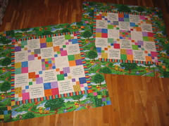 Matching Cousins Quilts (The Mom) Tags: baby quilt handmade cousins top crafts fabric quilts scraps maching pieced quiltmaking