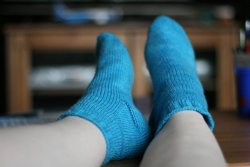 Finished Bluebird Socks
