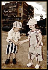 Innocence... (Gabby_Ss) Tags: life old bw art love sepia paint flickr strada child artistic estrellas nori copii galerie1 cer desene dragoste golddragon comanesti copilareasca