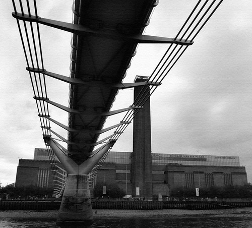 Tate Modern and Millennium Bridge, Bankside, London
