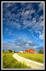 Red Barn on the Hill (Dave the Haligonian) Tags: red tractor canada farmhouse barn rural novascotia farm country schoolbus naturesfinest ninemileriver paololivornosfriends