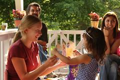 """Look Mom!  A Princess Card!"" (lorijohernandez) Tags: family kids fun abeautifulevening lillysbirthdayparty"