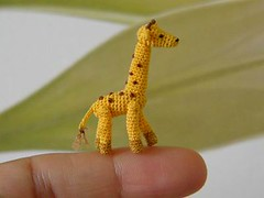 Marnie (MUFFA Miniatures) Tags: cute zoo miniature funny crochet giraffe amigurumi dollhouse muffa cdhm threadanimals