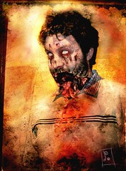 """""""Zombie Portraits"""" Campi (Poblin King) Tags: red texture dead geek zombie jaw creepy story gore po nightmare wound campi walkingdead frombeyond sebastinbages andrescampo"""