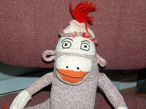 Sock Monkey Face - circa 1960