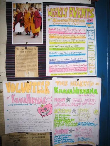 Events at Khana Nirvana community cafe