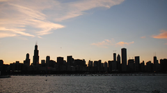 Evening Falls on the Chicago Skyline / Fireworks (josefrancisco.salgado) Tags: usa chicago skyline evening timelapse video illinois nikon downtown fireworks unitedstatesofamerica explore 4thofjuly adlerplanetarium 3rdofjuly nikonians d80 bestvideosflickr chicagonikonians