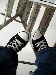 Chucks! (nikolina100) Tags: black random lookingup converse ladder chucks laces allstars