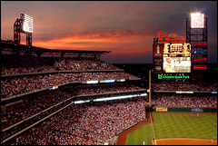 Citizens Bank Park Dusk (Fen Branklin) Tags: philadelphia baseball fireworks phillies philly citizensbankpark mlb phils southphiladelphia southphilly philadelphiaphillies nationalleague cityofbrotherlylove quakercity jeremyburger thephillies