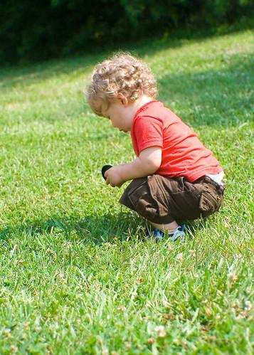 Ian Playing in the Yard