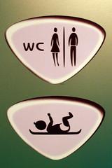 Only Women, Men, and breakdancing babies allowed in WC par johntrainor