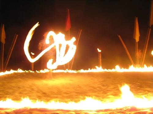 Fire dancer on Haad Rin, Koh Phangan