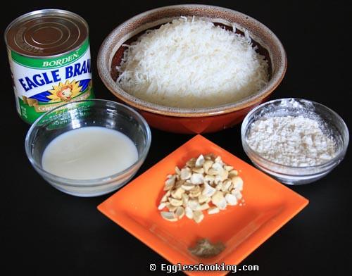 Eggless Coconut Macaroons Ingredients