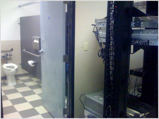 Server room via bathroom