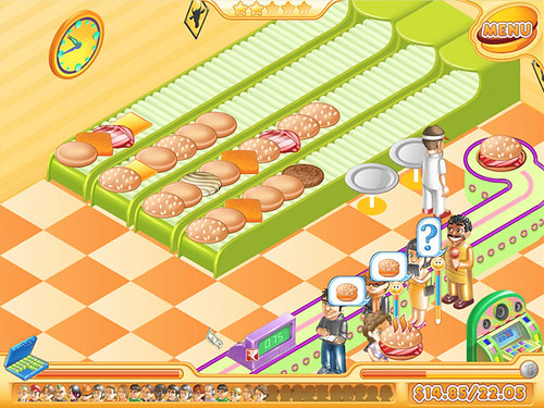 Stand O' Food 2 Game - Race to assemble burgers before your customers grow impatient!