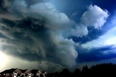 Storm Hit Today (wisely-chosen) Tags: blue trees sky storm clouds grey august twister 2008 tornado picnik apartmentbuildings otw