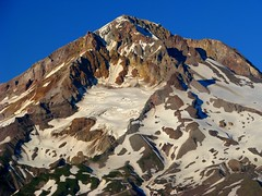 Lighting Up the Hood (Erik Hovmiller) Tags: sun mountain oregon evening mt glacier east mount summit zigzag