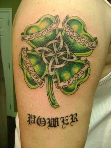 shamrock tattoo designs. celtic irish shamrock tattoo