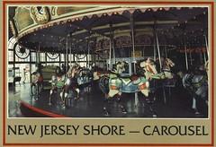 Postcard of Carousel, Asbury Park 1986 (Newport Eye) Tags: usa newjersey postcard asburypark carousel jerseyshore travellingamerica