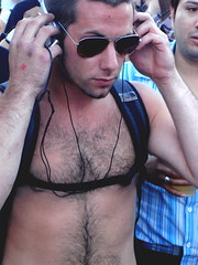 scar (drew*in*chicago) Tags: bear city gay shirtless hairy chicago men glasses bars dj chest broadway 2008 scar abs halsted beefcake blockparty goodtimes redstar marketdays gayborhood drewinchicago