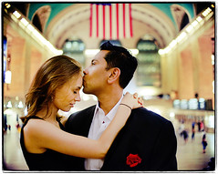 Central. (Ryan Brenizer) Tags: nyc newyorkcity wedding love groom bride engagement nikon bokeh august sigma30mmf14dc noflash gothamist grandcentral 2008 d700 yelenaandmohammed