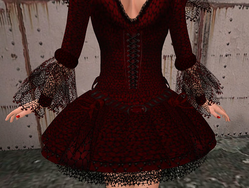 Crimson Shadow- Webbed n Lace - Close Up