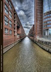 Golden Waters (roliathBrickworx) Tags: germany canal hamburg kanal speicherstadt elbe hdri hdr3exp
