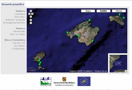 mapa de fondeos