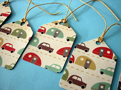 Kitschy Car & Trailer gift tags (by glamourfae)