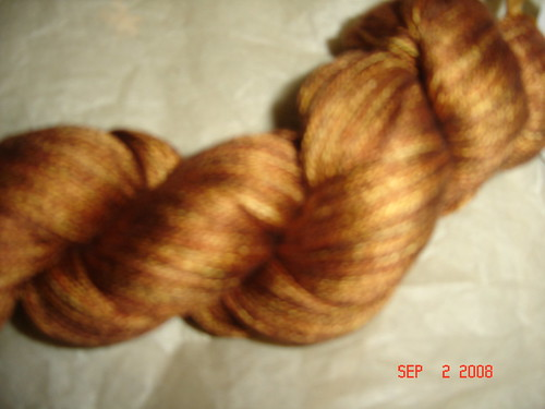 "Sundara Seasons Yarn Club ""Mahogany Over Marmalade"" Silk Lace 1000 yards"