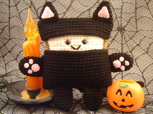 Mr. Toastee Halloween 2008 Plush - Black Cat Costume