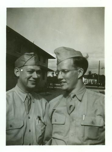 two uniformed boys