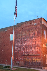 Henry George 5 cent Cigar (anglerove) Tags: tower minnesota painted flag americanflag cigar faded ghostsign ghostad henrygeorge brickad henrygeorgecigar