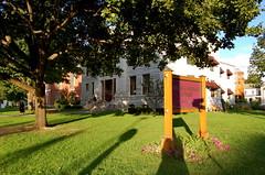 (nimariel) Tags: shadow tree grass vermont pillar lawn granite montpelier kellogghubbardlibrary est1894