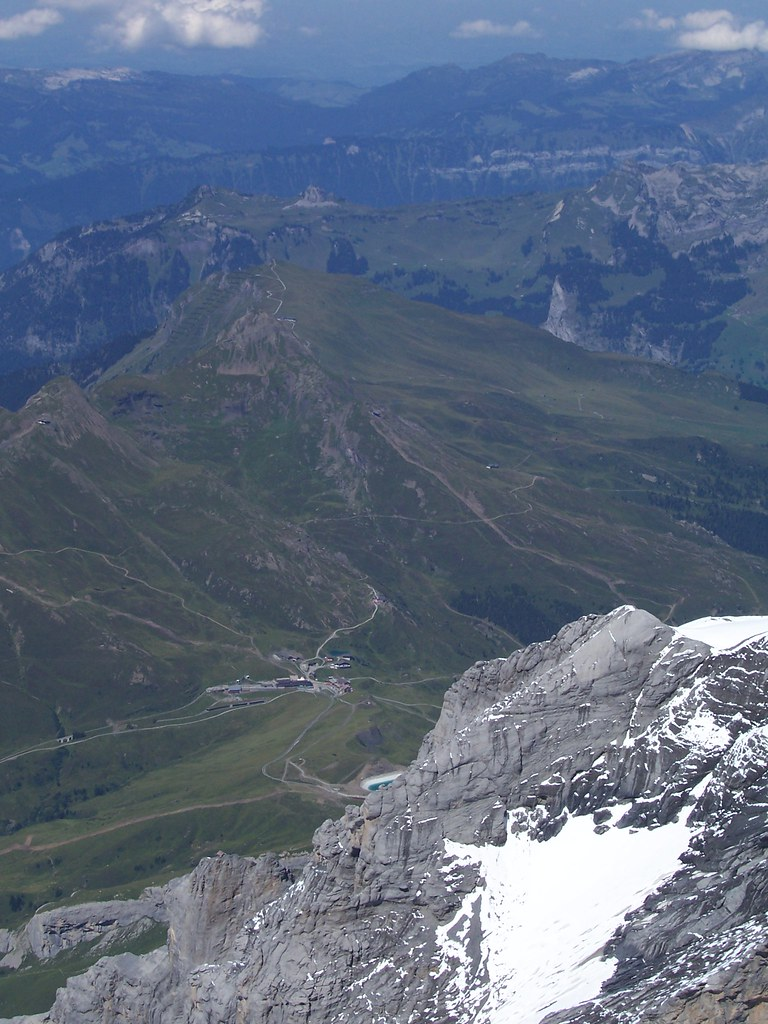 Kleine Scheidegg, Lauberhorn and Schynige Platte, seen from the Sphinx research station