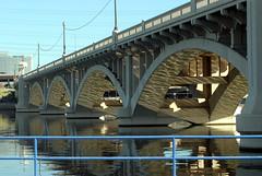 (ONE/MILLION) Tags: park bridge arizona lake beach water reflections river bridges tempe onemillion williestark