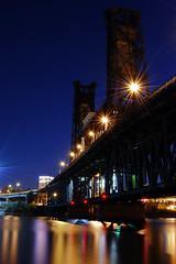 Bridgetown (Jon Asay ) Tags: bridge bulb oregon river portland twilight nikon long exposure steel willamette d40    stealingshadows   fourminuteexposure