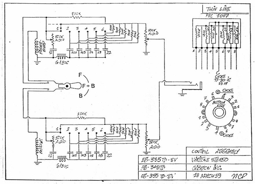 1959 Les Paul Wiring Diagram