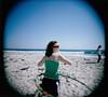 hoola (thirtyoneteeth) Tags: alexis beach holgaroid beachparty flybutter fp100c westgilgobeach