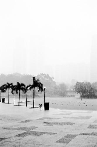 Rain time at KLCC