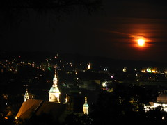 2007 07 01 - 0586 - Graz - View from Schlossberg (thisisbossi) Tags: moon night austria sterreich graz moonillusion