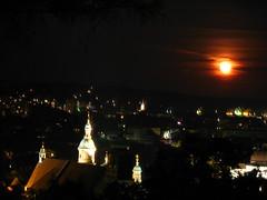2007 07 01 - 0586 - Graz - View from Schlossberg (thisisbossi) Tags: moon night austria österreich graz moonillusion