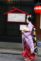 Geisha fugint