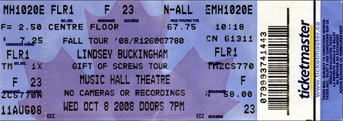 Lindsey Buckingham Ticket