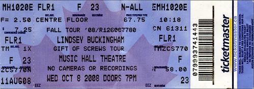 Lindsey Buckingham Ticket