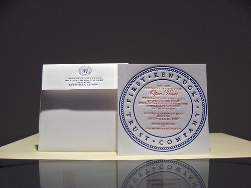 First Kentucky Trust Letterpress Invitations